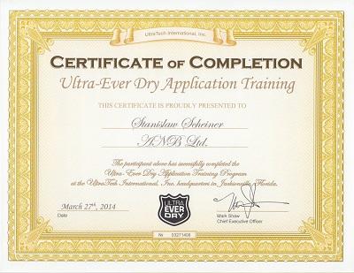 Certyfikat UltraEver Dry