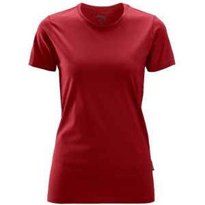 2516 T-shirt - damski (kolor: chili red) - Snickers Workwear