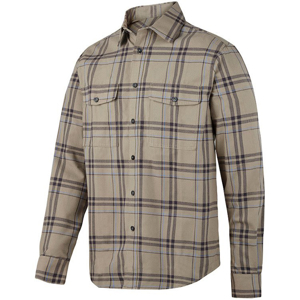 8502 Koszula flanelowa RuffWork (kolor: khaki - cloud blue) Snickers Workwear