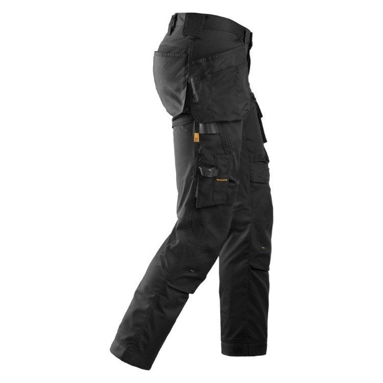 6241 Spodnie Stretch AllroundWork z workami kieszeniowymi kolor czarny