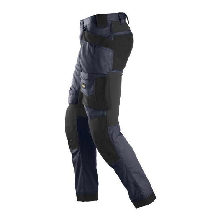 6241 Spodnie Stretch AllroundWork z workami kieszeniowymi kolor granatowo czarny