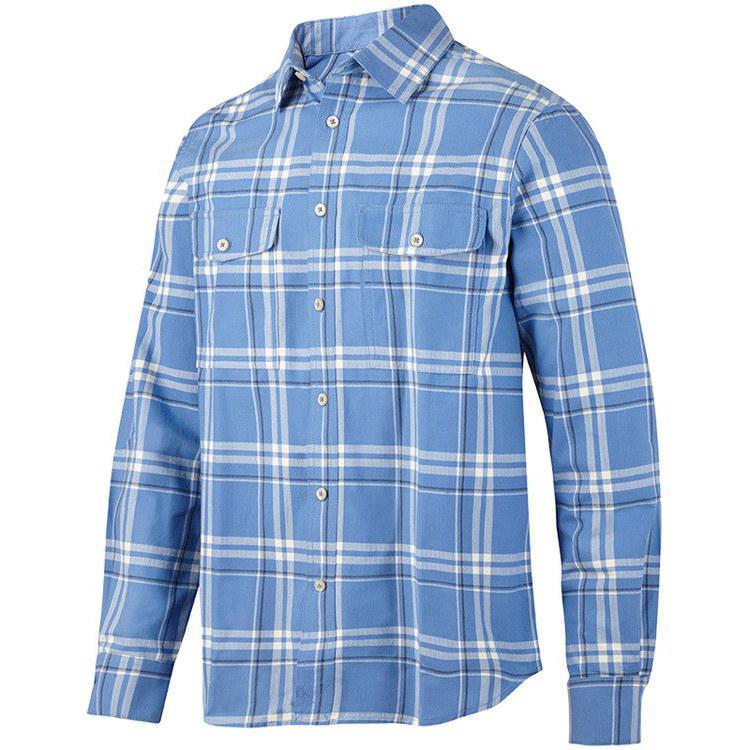 8502 Koszula flanelowa RuffWork (kolor: cloud blue stalowy  okmHL